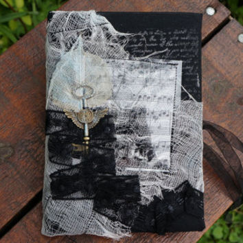 Black journal diary, Personalized journal, Victorian gothic vampire journal diary, Coffee diary, Blank Book, Handmade travel journal