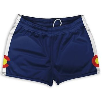 "Colorado Flag Short Shorty Shorts 2.5"" Inseam"