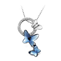 "YAN & LEI Hot Sale ""Dream Chasers"" Love Gift Swarovski Elements Crystal Butterfly Pendant Necklace Women's Jewelry"