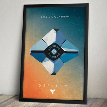Destiny Inspired Video Game Poster - Eyes Up Guardian