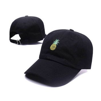 Trucker Cap Pineapple Dad Hat Embroidery Baseball Cap Hip Hop Bone Snapback Funny Cap Fresh Fruit Hipster Hats Summer Dad Cap