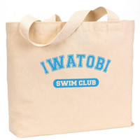 "Iwatobi Swim Club Cotton Canvas Jumbo Tote Bag 18""w x 11""h"