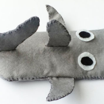 Kawaii 3D Shark iPhone/iPod/Phone Cozy  Unique by poptartsandjelly