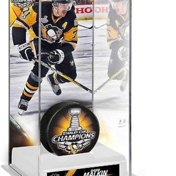 Evgeni Malkin Penguins 2017 Stanley Cup Champs Logo Hockey Puck Case - Fanatics