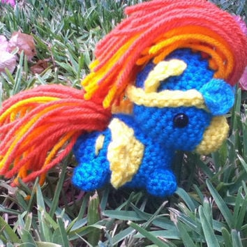 Spitfire My Little Pony crocheted