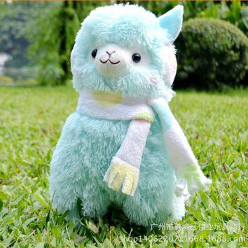 Hot Sale 45cm Alpaca Peluches Toys With Earmuff Japan Alpacasso Plush Toy Jumbo Plush Animals Toys Kids Alpaca Christmas Gifts