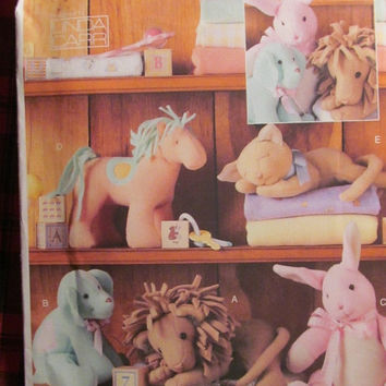 SALE Uncut Vogue Sewing Pattern, 7760! Stuffed Animals/Horses/Bunnies/Dogs/Lions/Cats, Children's/Kids Toys, Pet Toys, Home Decor/Bed Decor