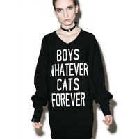 BOYS/CATS KNIT DRESS