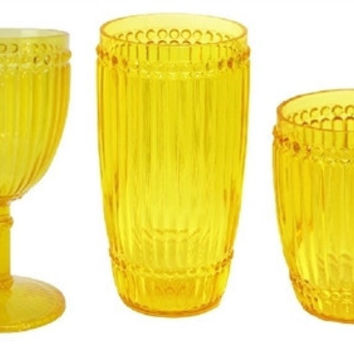 Milano Outdoor Drinkware - Yellow - Set of 6