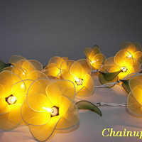 20 YELLOW FLOWERS STRING PARTY,PATIO,FAIRY,DECOR,HOME,BEDROOM,WEDDING LIGHTS