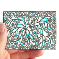 Original ACEO Zentangle Ink Drawing by JoArtyJo on Etsy
