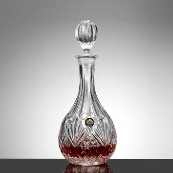 Lead Free Crystal Glass 860ml Round Shape Wine Decanter Whiskey Liquor Bottle Jug Alcohol Decanter Container
