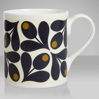Buy Orla Kiely Acorn Mug, Slate online at JohnLewis.com