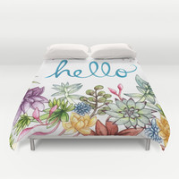hello spring Duvet Cover by Brooke Weeber