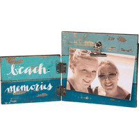 Beach Memories Slat Board Hinged Photo Frame