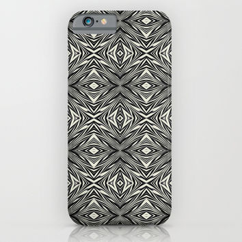 Black And White Abstract iPhone & iPod Case by KCavender Designs