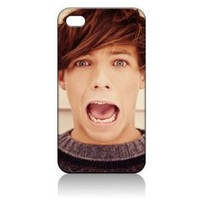 Louis Tomlinson One Direction Hard Case Skin for Iphone 4 4s Iphone4 At&t Sprint Verizon Retail Packing.