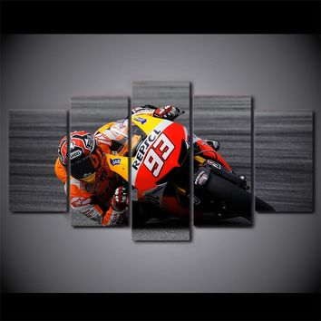 Sportbike #93 Motorcycle Repsol Racing Poster Living Room Home Decoration