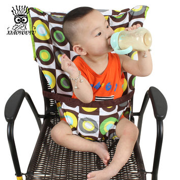 XIAOYOUYU Baby Chair Portable Infant Seat Product Dining Lunch Chair Seat Safety Belt Feeding High Chair Harness Baby Carrier