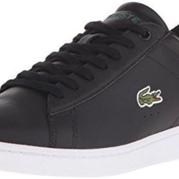 Lacoste Men's Carnaby Evo Lcr Casual Shoe Fashion Sneaker, black, 9 M US