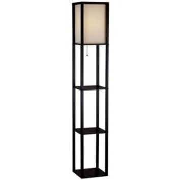 Hampton Bay, 62.75 in. Black Shelf Floor Lamp, AF33904 at The Home Depot - Mobile