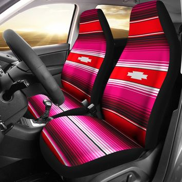 Burgundy Aztec Design Seat Covers