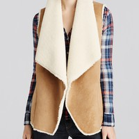 Velvet by Graham & SpencerFaux Sherpa Vest