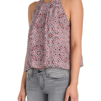 Paisley Pleated Halter Top-FINAL SALE