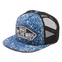 Vans Beach Girl Trucker Hat (Bleach Splatter)