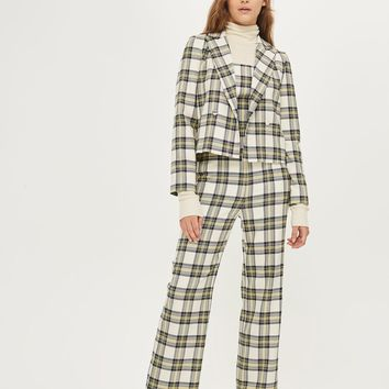 Checked Bustier Jumpsuit