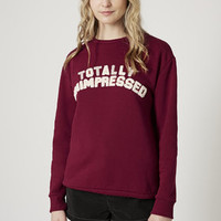 Totally Unimpressed Sweatshirt by Tee and Cake - Brands at Topshop - Clothing