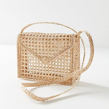 KAANAS Martinique Woven Envelope Crossbody Bag | Urban Outfitters