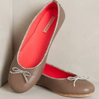 Kadekki Ballerina Flats by Anthropologie Taupe/natural Lizard