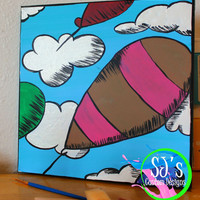 Oh the places you'll go nursery decoration, Dr.Seuss nursery decoration, Dr.Seuss wall decoration, Dr.Seuss decoration, Hot air balloon