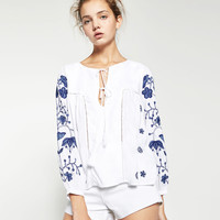 EMBROIDERED TOP - View All-TOPS-WOMAN | ZARA United States