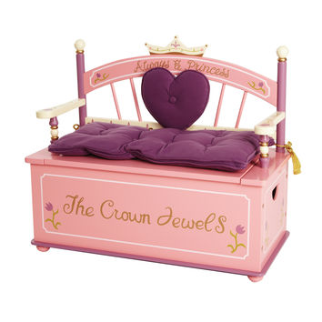 Levels of Discovery Princess Bench Seat w/ Storage - LOD20007