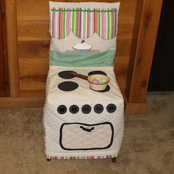 Play Kitchen Stove Chair Cover, Cloth Kitchen Chair Cover, C64