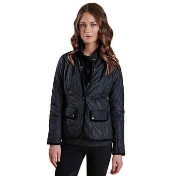 Terrain Quilted Jacket in Black by Barbour
