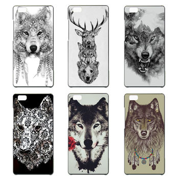 Wolf Totem phone Case for Huawei Ascend P7 P8 P8 lite P9 P9 lite cover hard plastic coque