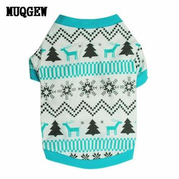 Christmas  Dog Clothes Printed Snow Dog Outer wears winter Dog Clothes