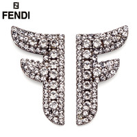 Fendi Fashion New More Diamond Long Earring Women Accessories Silver