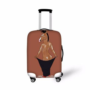 FORUDESIGNS Cool BoJack Horseman Printing Luggage  Protect Cover Waterproof  Apply to 18-30 Inch Case Waterproof Luggage Covers