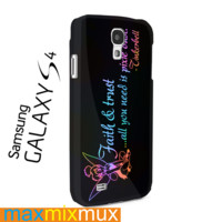 Tinkerbell Quote, Faith Trust Pixie Dust Samsung Galaxy Series Full Wrap Cases