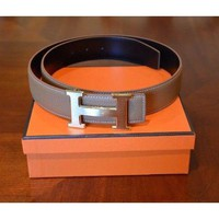 Hermes Belt And Brushed Gold Buckle Set