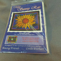 "Quilting Pattern, Sunflower, Miss Sunny Rae, Stained Glass Look, Wallhanging, Finished Size 32 x 27"", Among Friends"