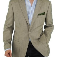 Men's Blazer One Button Modern Fit Coat Gray Touch of Tan (38 Regular)