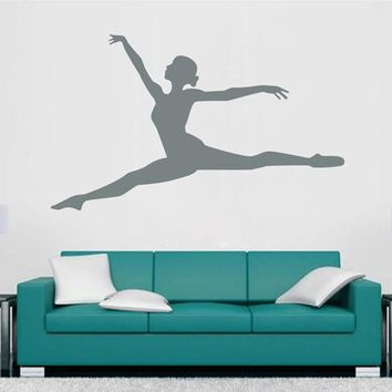 ik2290 Wall Decal Sticker gymnast girl dance pose beautiful living room bedroom gym
