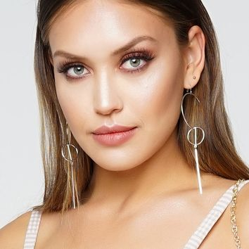 Drop It Low Earrings - Silver