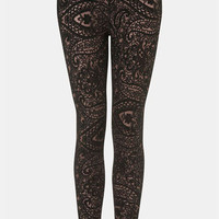 Topshop Lace Leggings | Nordstrom