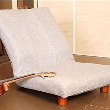 Floor Foldable Single Sofa Chair Modern Fabric Chair